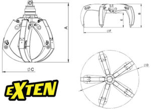 Грейферы для металлолома EXTEN METEX