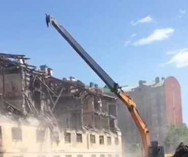 Удлиненная стрела для разрушений зданий